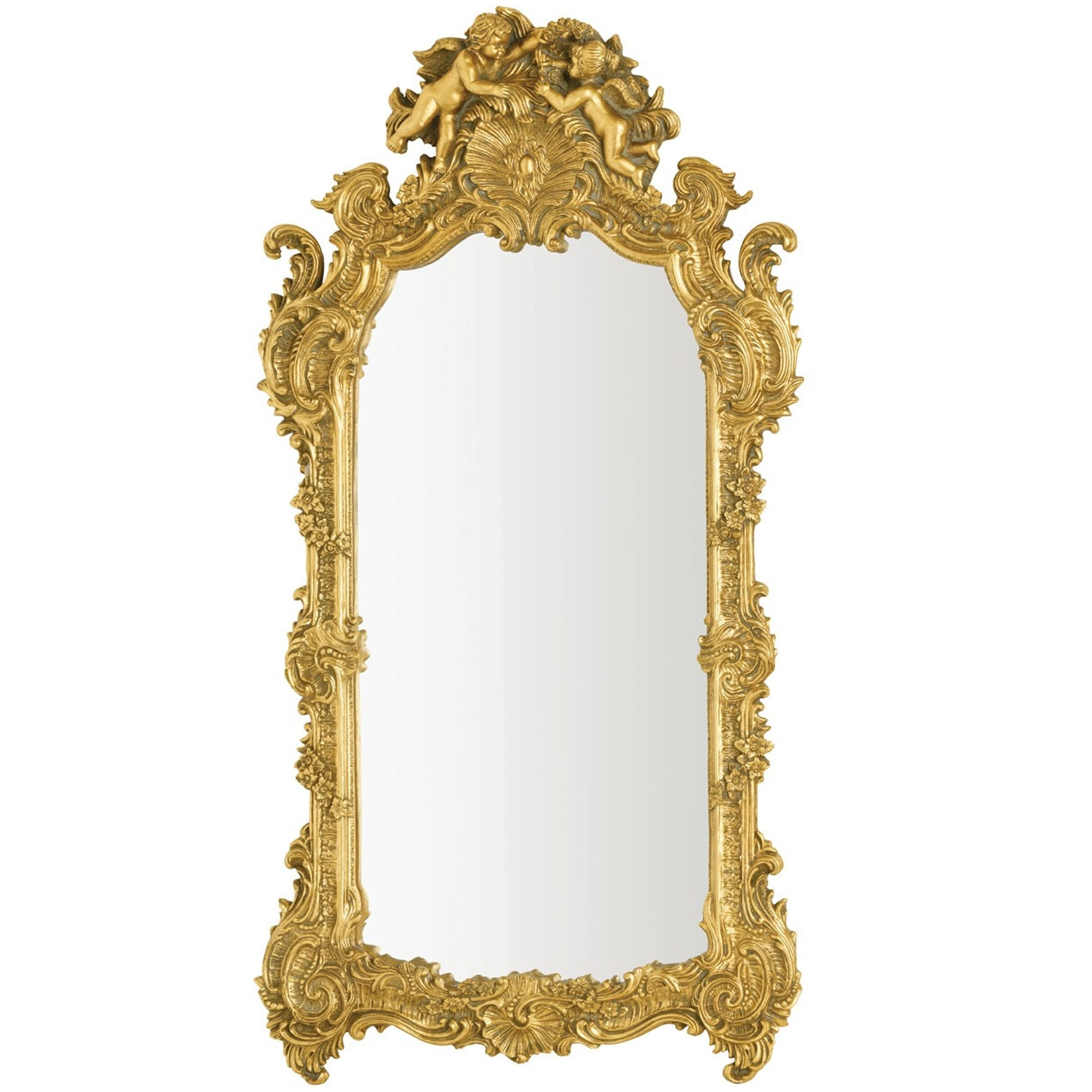 Antique French Style Gold Battista Wall Mirror Bedroom Furniture