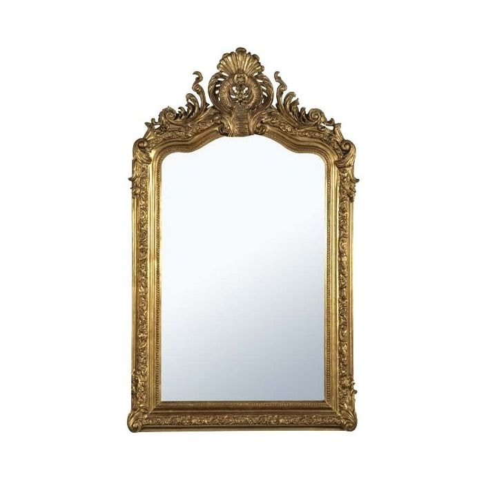 Antique french gold style wall mirror for Antique style wall mirror