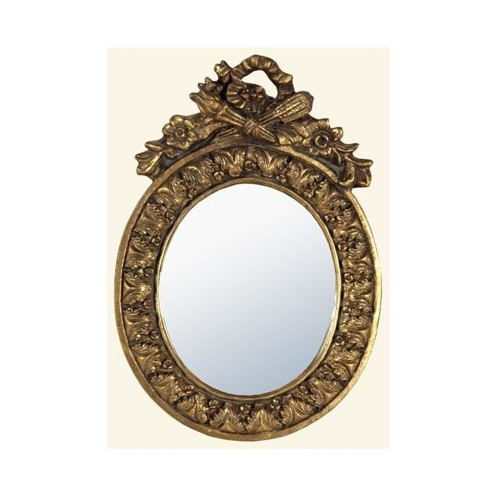 Oval Gold Framed Wall Mirror
