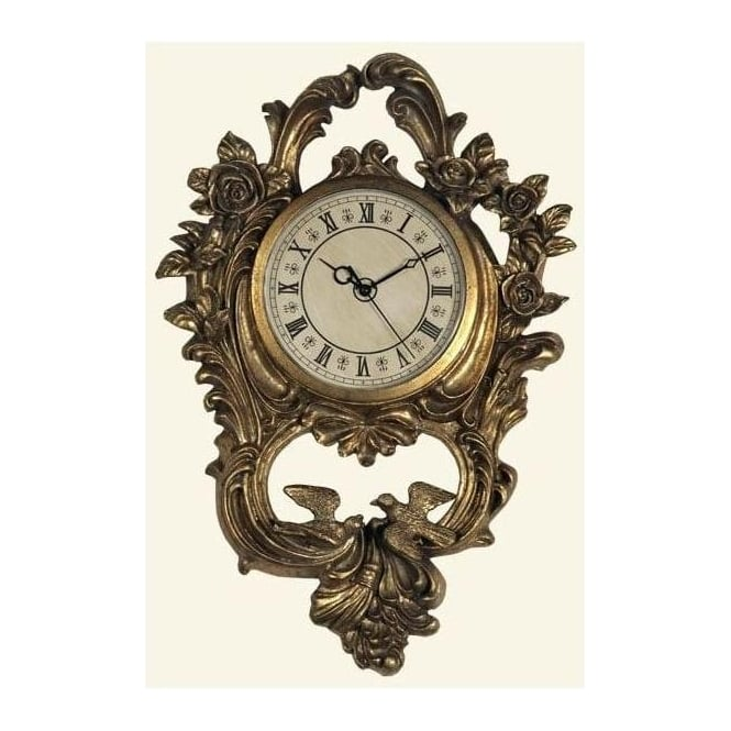 Antique French Style Gold Frame With Clock