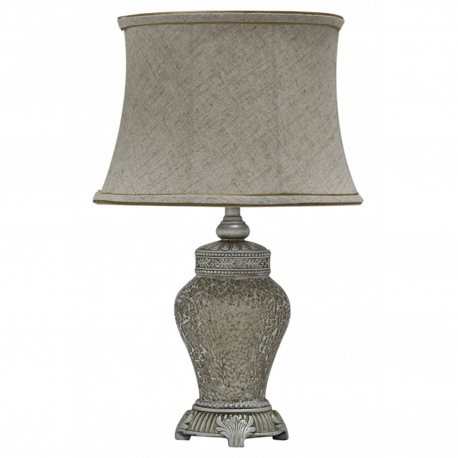 Antique French Style Gold Mosaic Table Lamp
