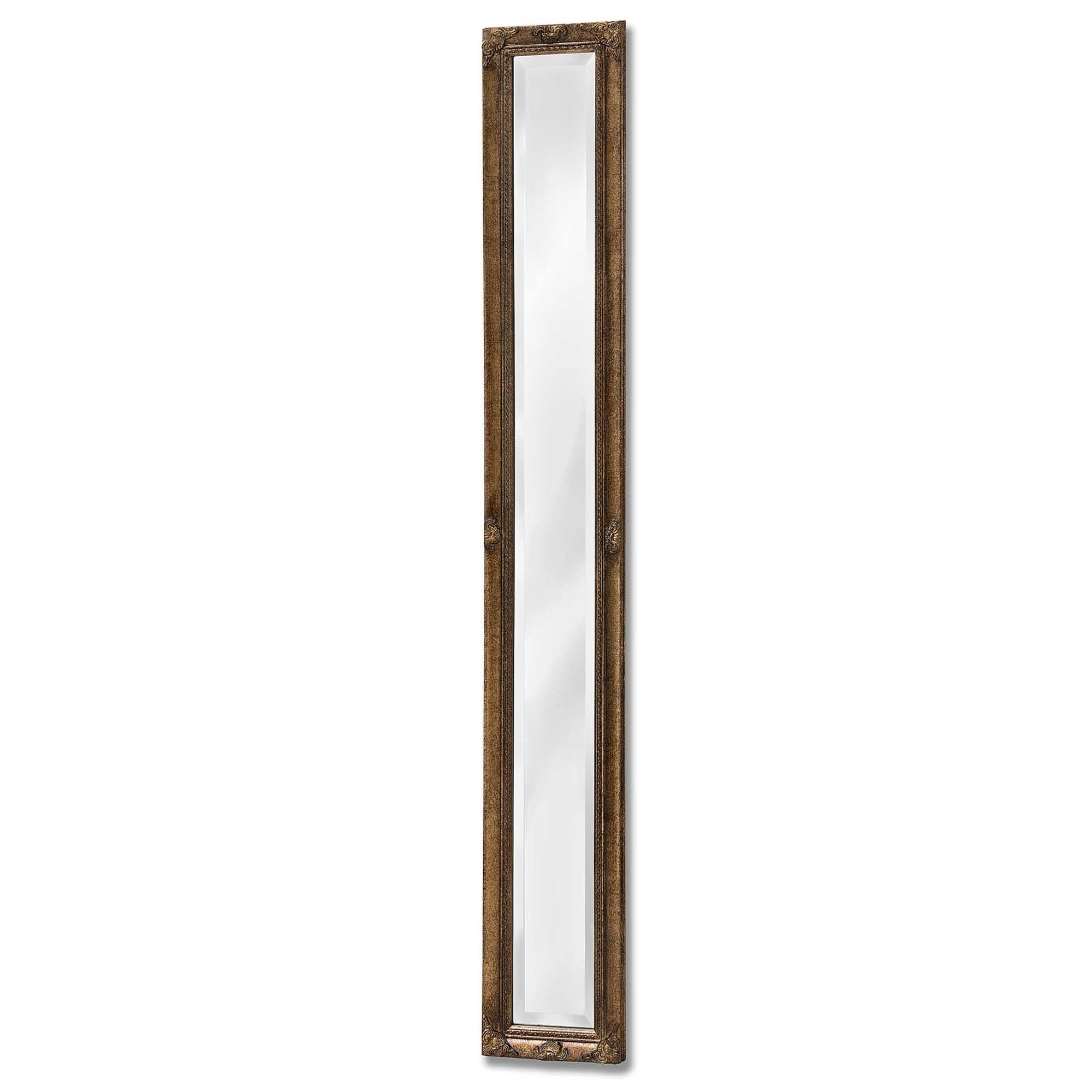 Antique french style gold narrow wall mirror homesdirect365 for Narrow decorative mirrors