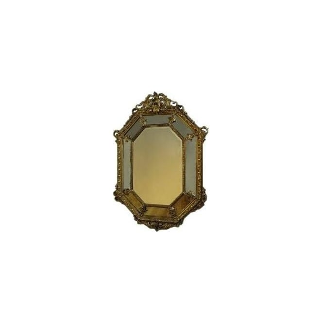 Antique French Style Gold Octagonal Mirror