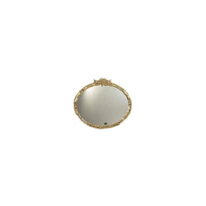 Antique French Style Gold Oval Mirror 4