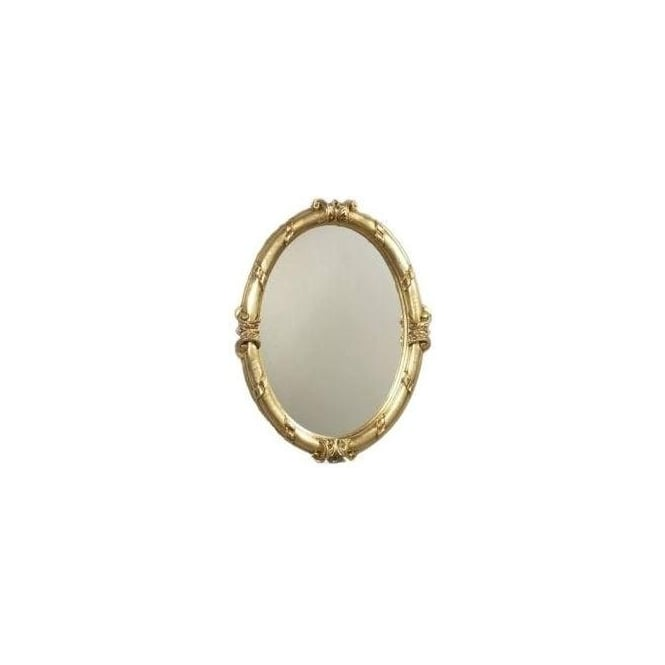 Antique French Style Gold Oval Mirror 5