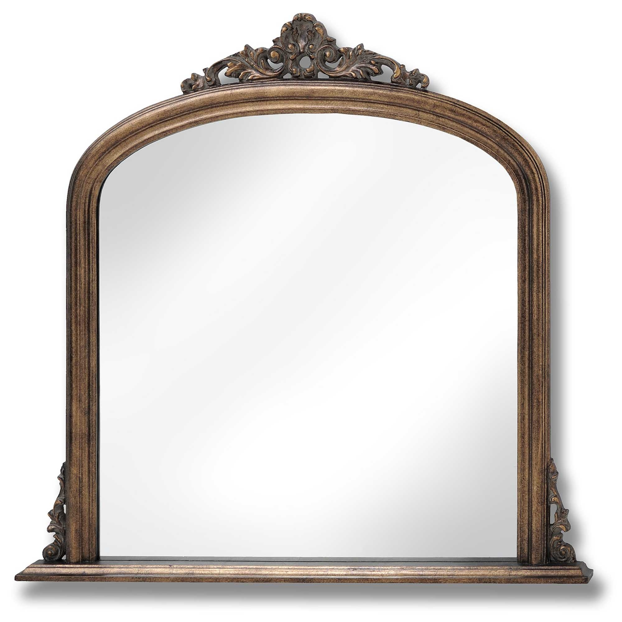 Antique French Style Gold Overmantel Mirror Homesdirect365