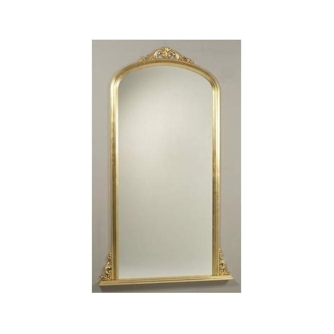 Antique French Style Gold Overmantle Mirror