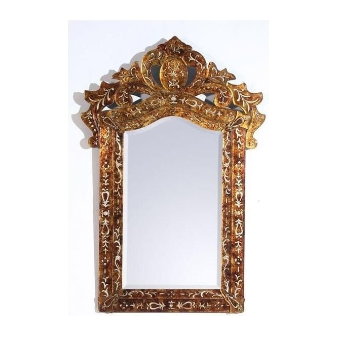 Antique French Style Gold Patterned Mirror