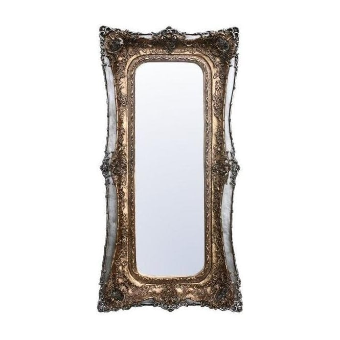 Antique French Style Gold & Silver Wall Mirror