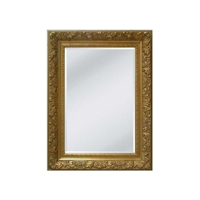 Antique French Style Gold Swept Frame with Bevel Mirror