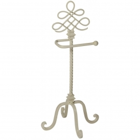 Antique French Style Iron Toilet Roll Holder