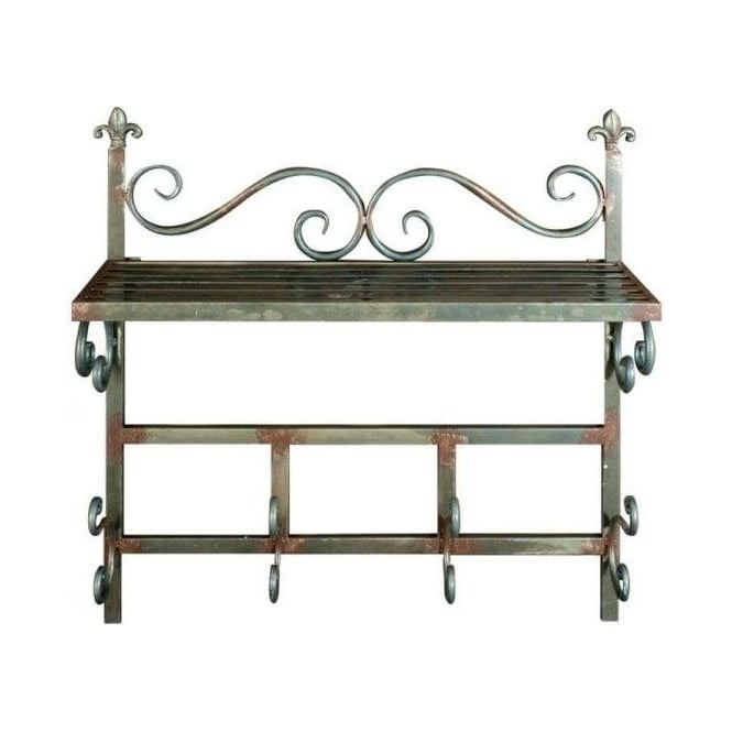 Antique French Style Iron Wall Rack
