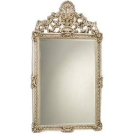 Antique French Style Ivory Mirror 8