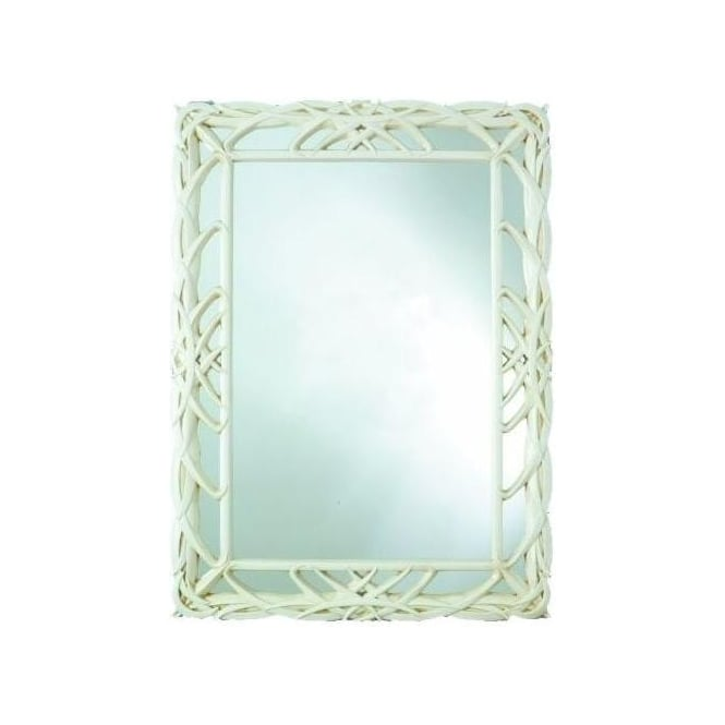 Antique French Style Ivory Wall Mirror 2
