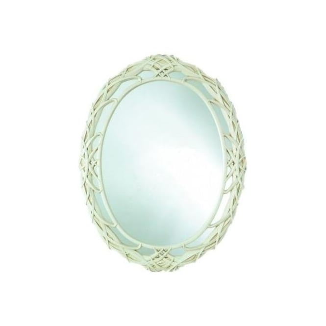 Antique French Style Ivory Wall Mirror