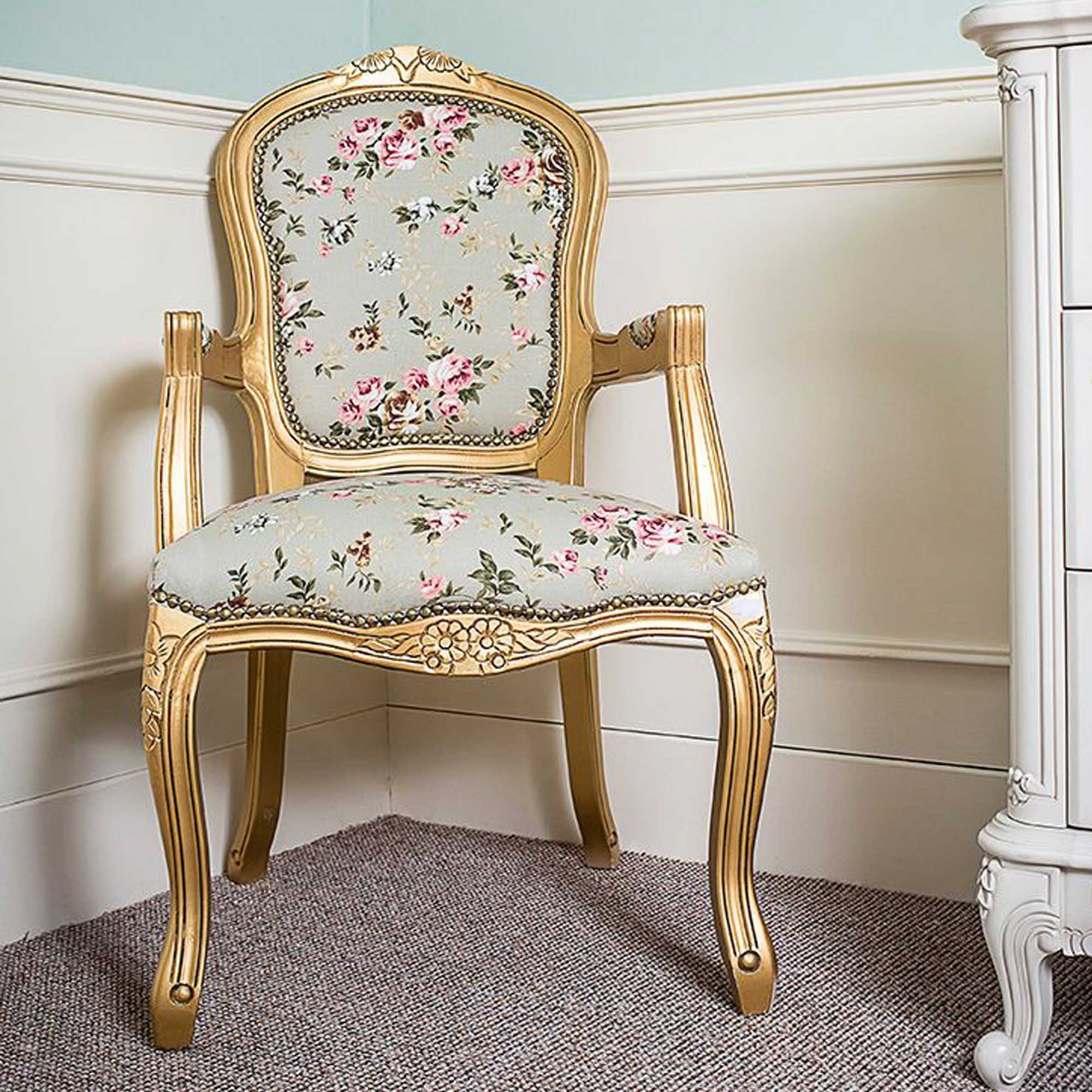 Antique French Style Louis Armchair | Armchairs | French ...