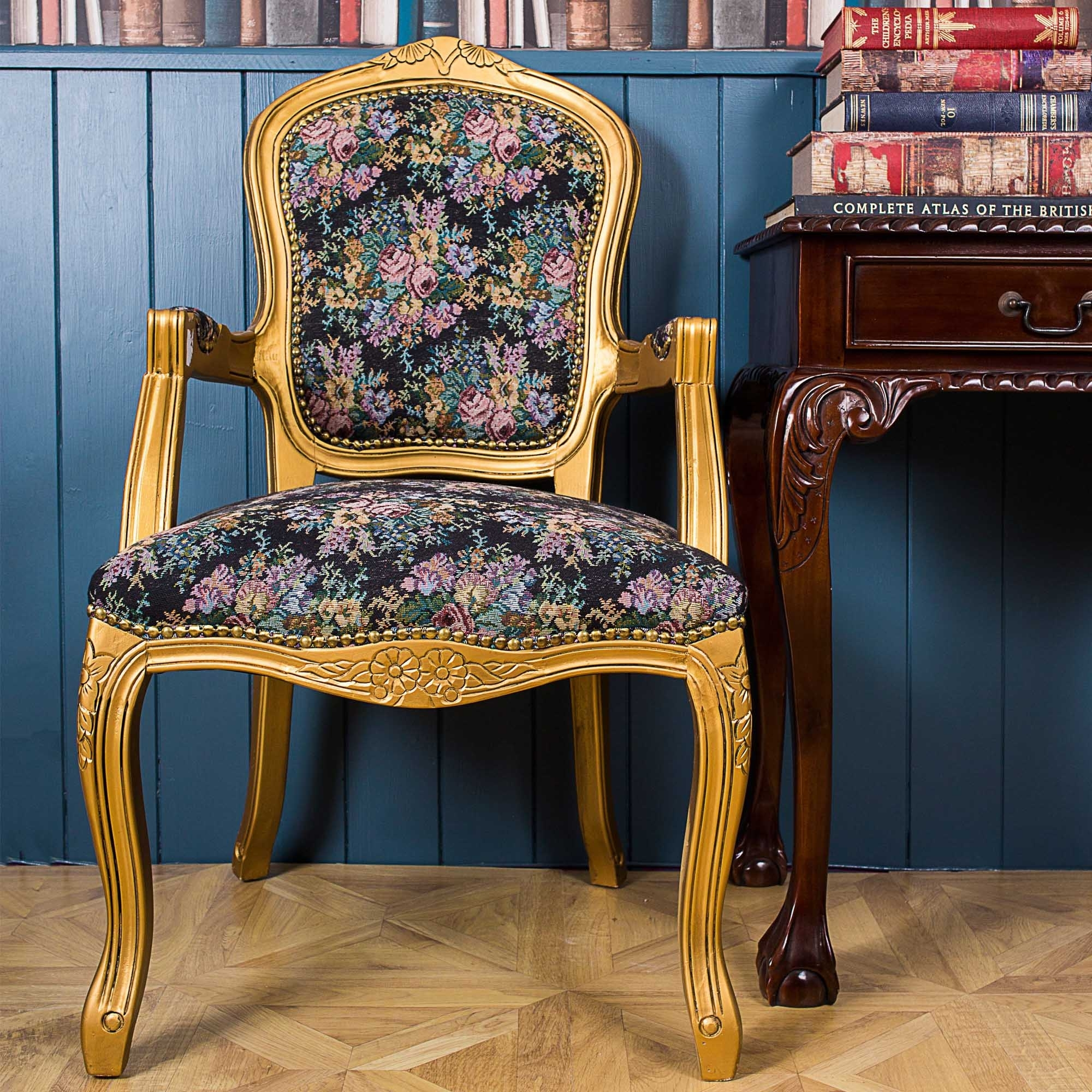 Antique French Style Set Of 2 French Louis Armchair ...