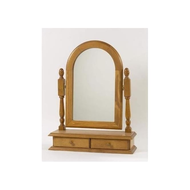 Antique French Style Marigold Table Mirror
