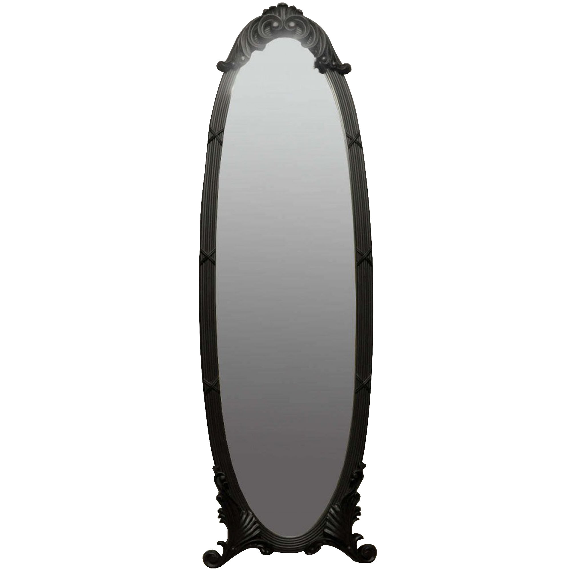 Antique French Style Matte Black Cheval Mirror Cheval Mirrors