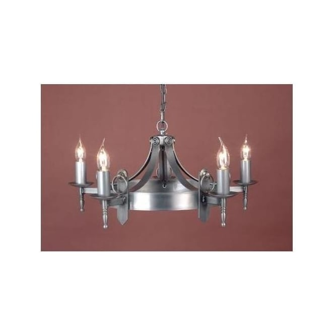 Antique French Style Mitre Sterling Pendant Light