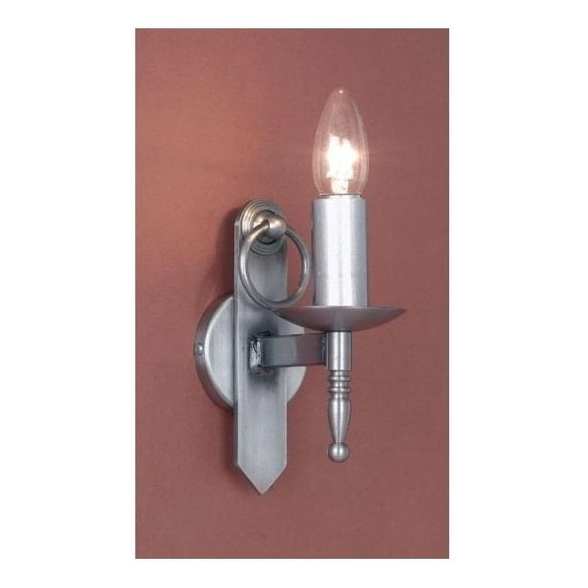 Antique French Style Mitre Sterling Silver Wall Light 2
