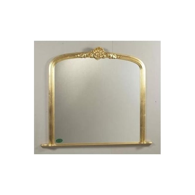 Antique French Style Mortimer Overmantle Mirror