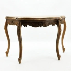 Antique French Style Oak Console Table