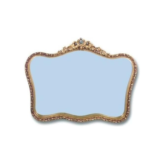 Antique French Style Ornate Gold Mirror