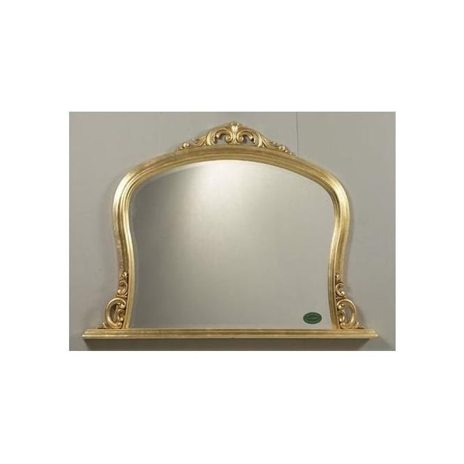 Antique French Style Overmantle Edgemount Mirror