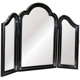 Antique French Style Painted Triple Mirror