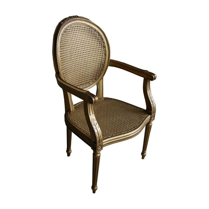 Antique French Rattan Chair