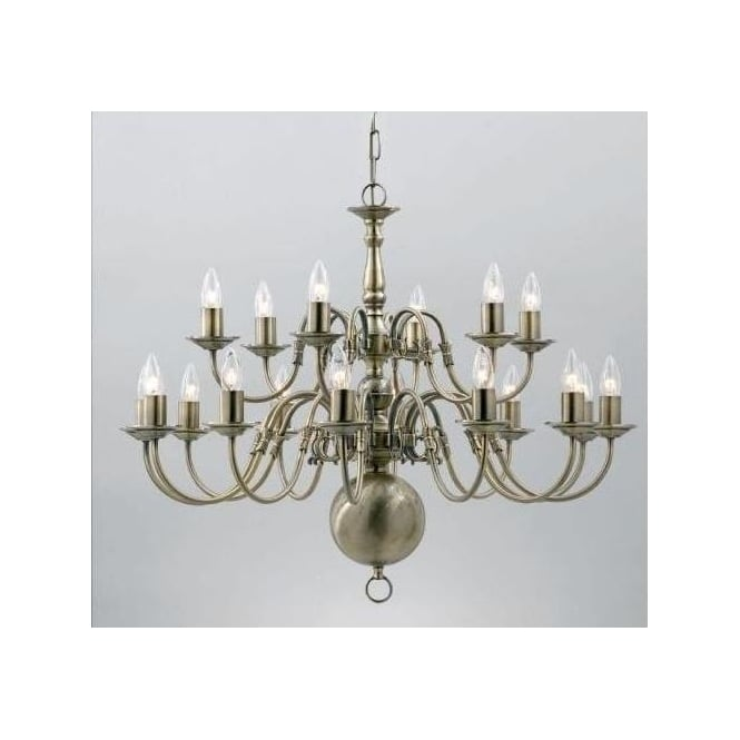 Antique French Style Silver Brass Pendant Light