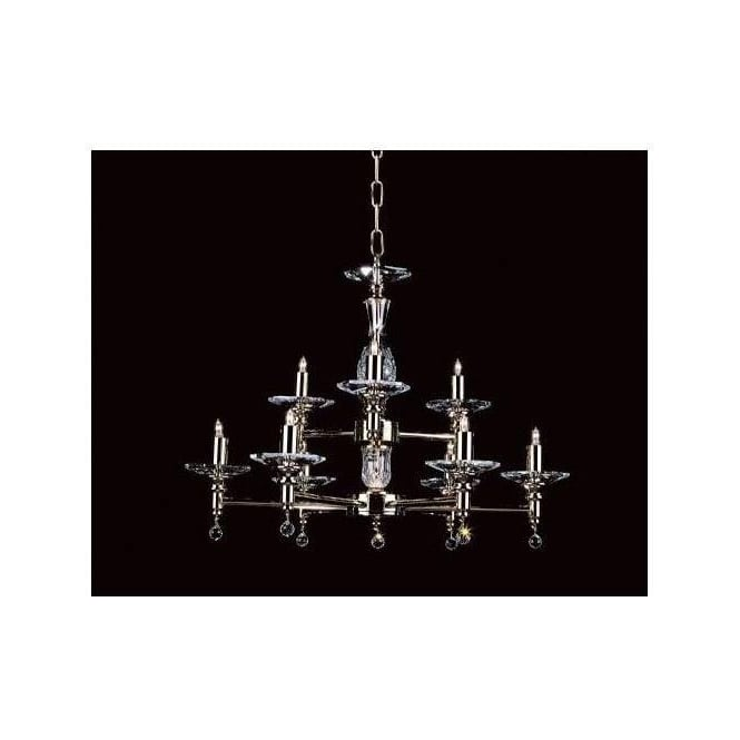 Antique French Style Silver Chandelier