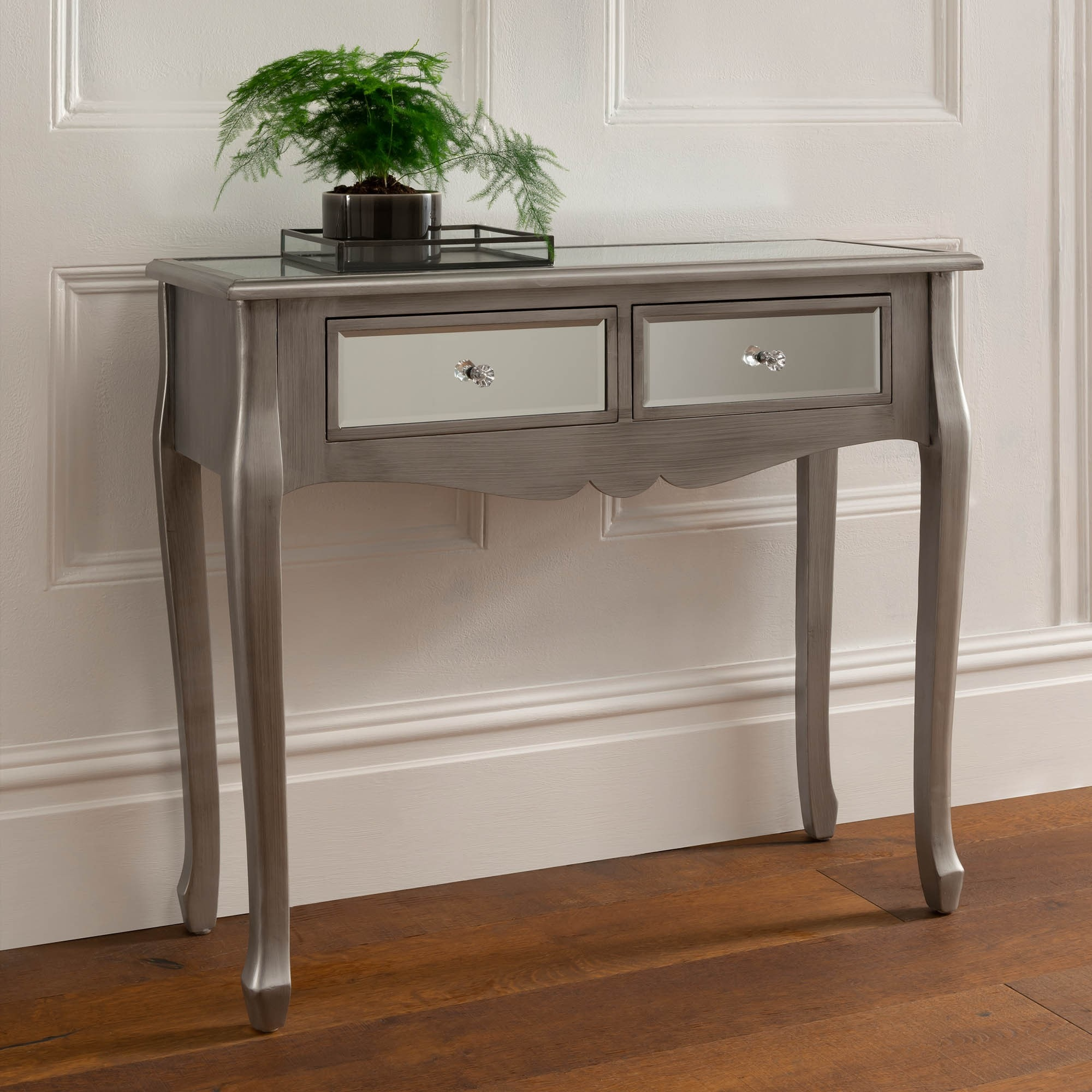 half off f7454 a7852 Antique French Style Silver Console Table