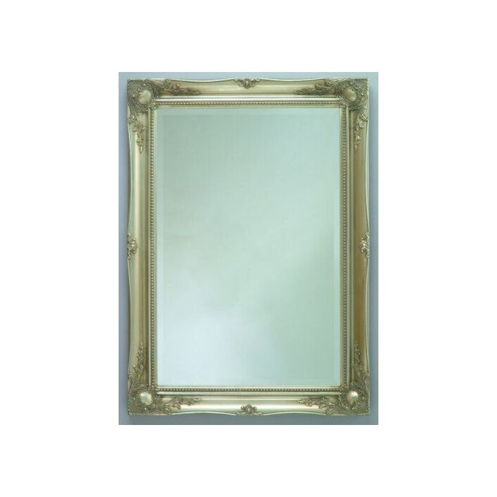 antique french style silver mirror 1