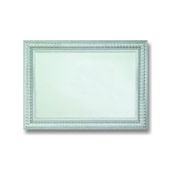 Antique French Style Silver Mirror 2