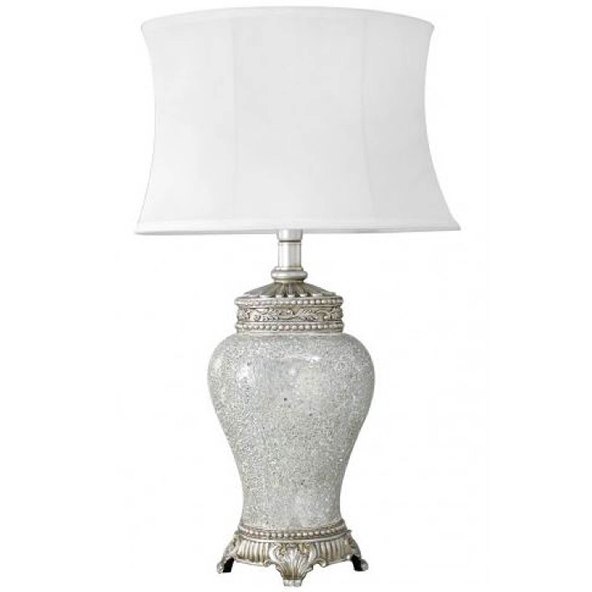 Antique French Style Silver Mosaic Table Lamp Lamps