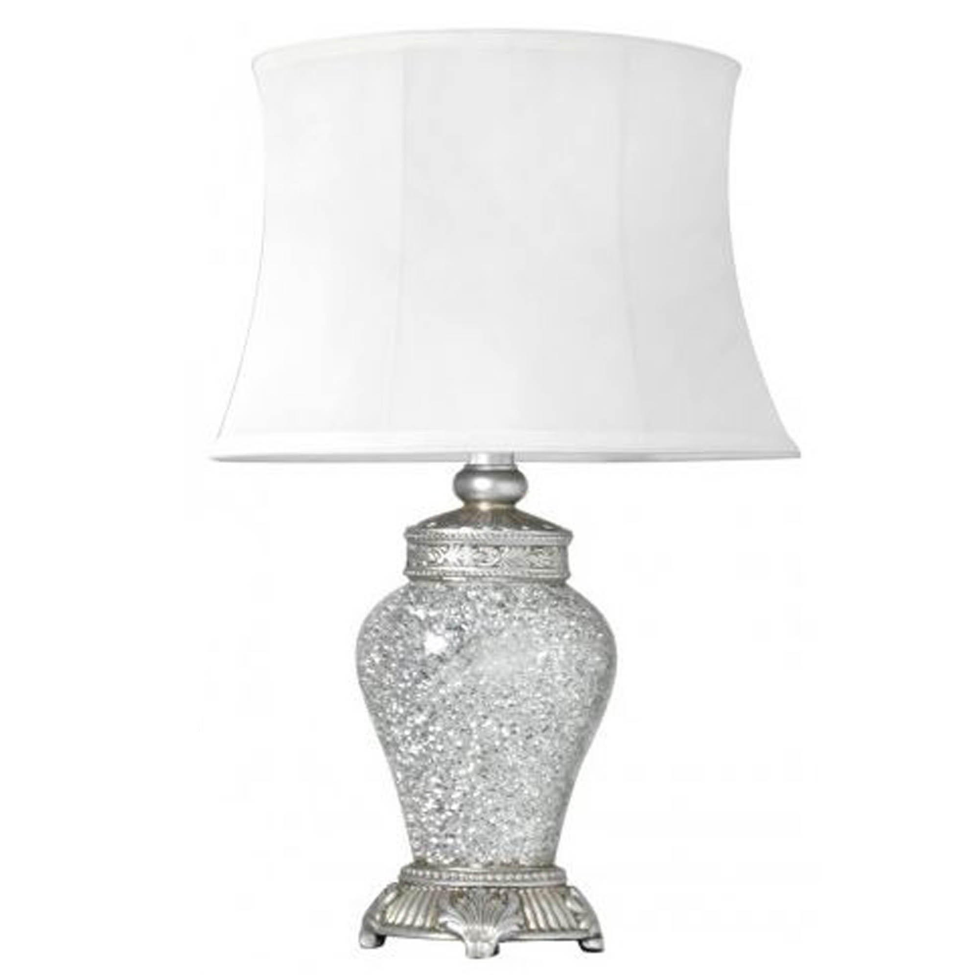 Antique French Style Silver Mosaic Table Lamp Lamp Homesdirect365