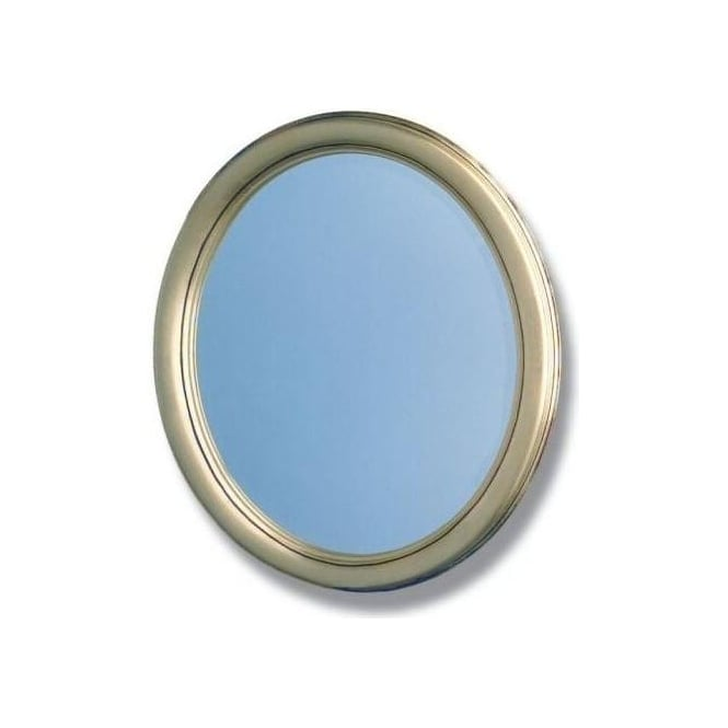 Antique French Style Silver Oval Mirror 3
