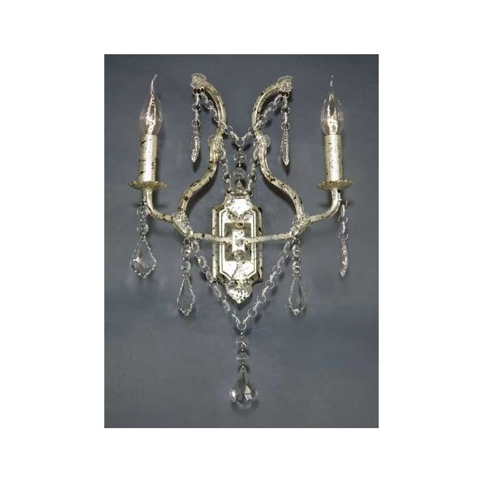 Antique french style silver wall light wall lights from antique french style silver wall light aloadofball Images