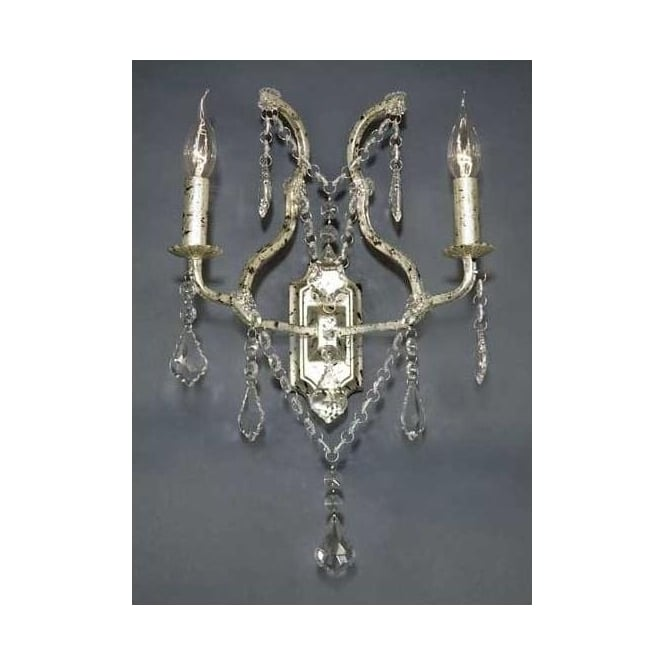 Antique French Style Silver Wall Light