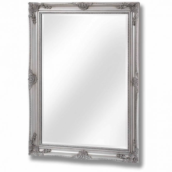 Antique French Style Silver Wall Mirror