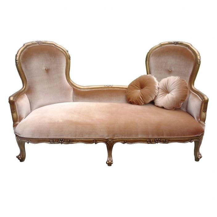 Antique french sofa chaise for Antique style chaise lounge