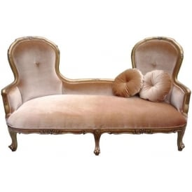 Antique French Style Sofa Chaise