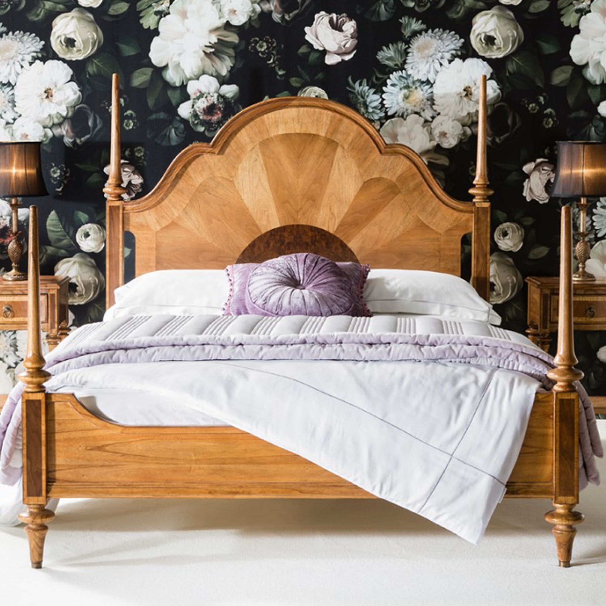 Antique French Style Spire Wooden Bed Beds French Styled Beds