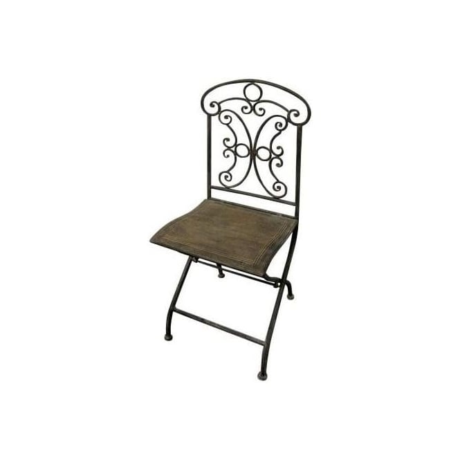 Antique French Style Square Patio Chair