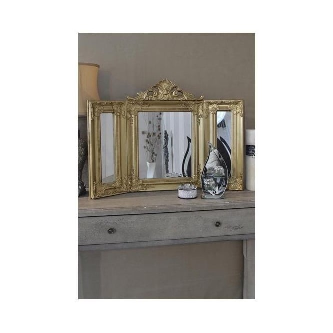 Antique French Style Table Mirror