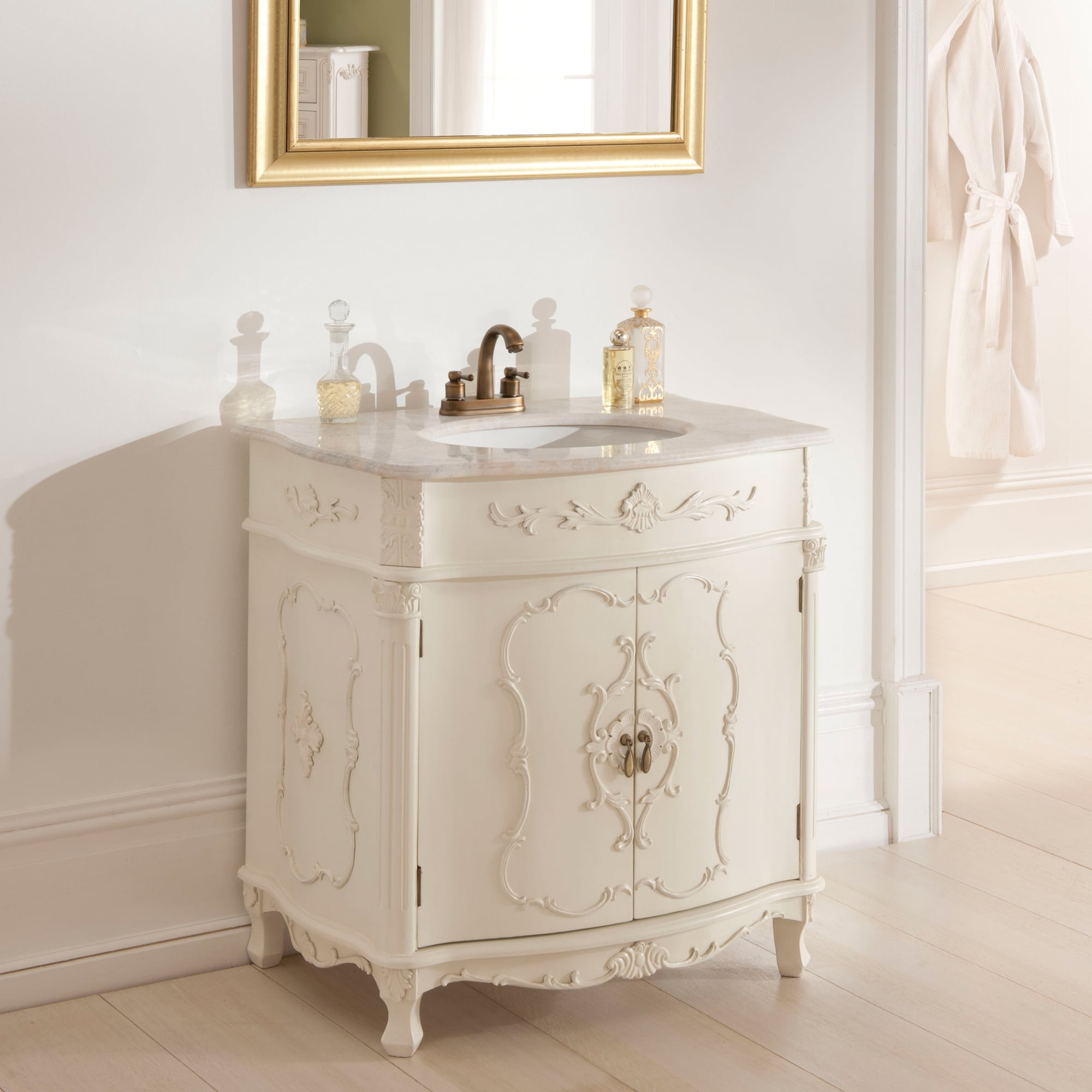 Antique french vanity unit french bathroom furniture for Antique bathroom vanity units