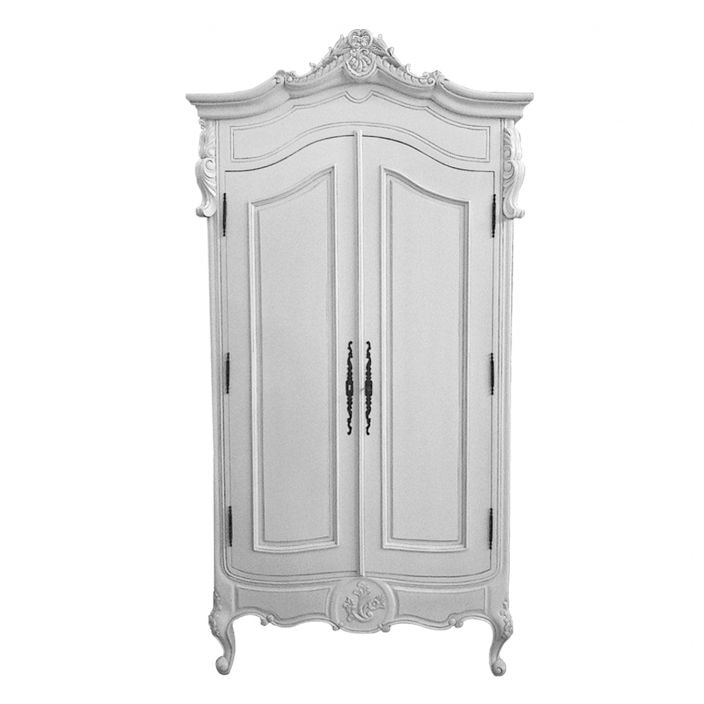 white antique french style wardrobe. Black Bedroom Furniture Sets. Home Design Ideas
