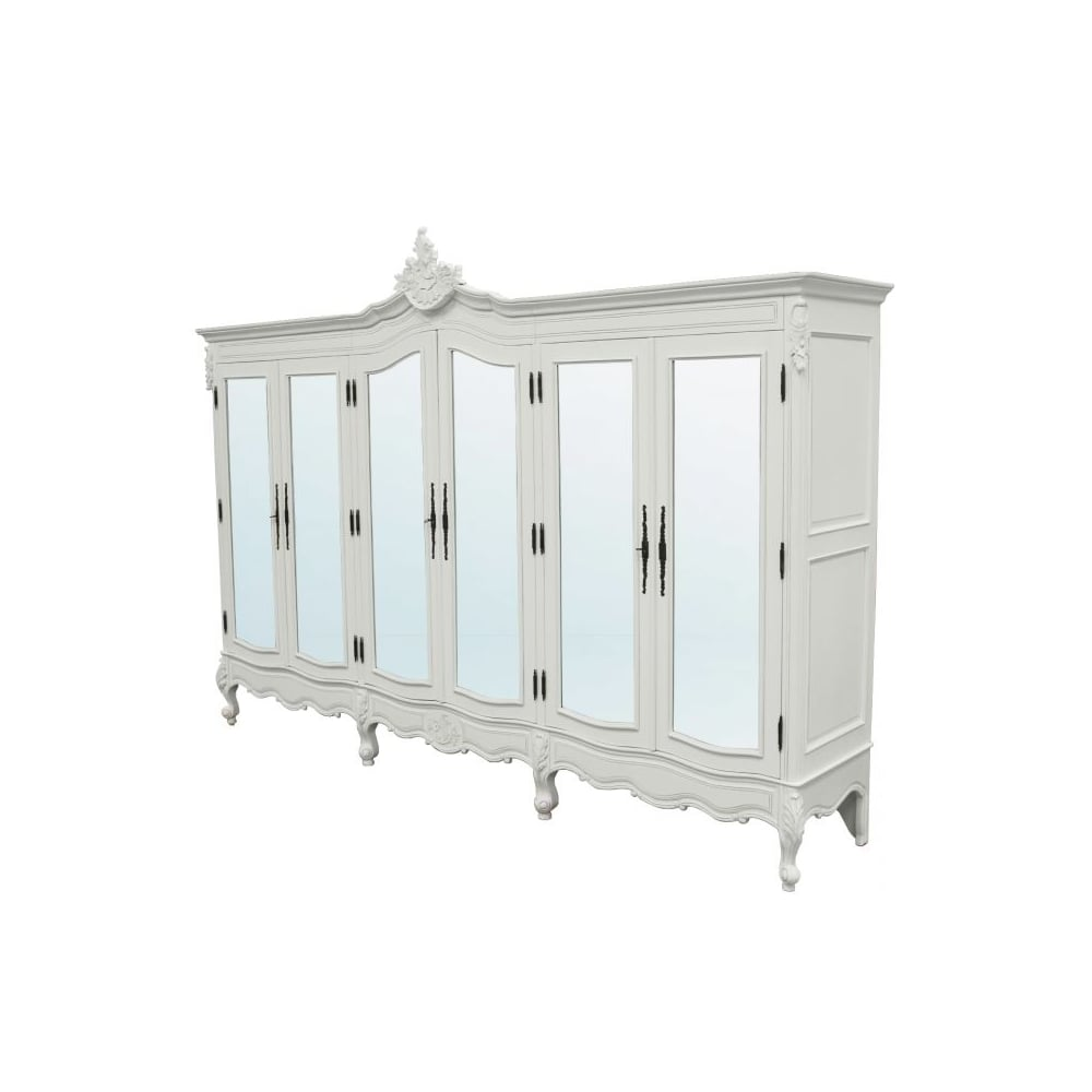antique french style wardrobe white shabby chic. Black Bedroom Furniture Sets. Home Design Ideas